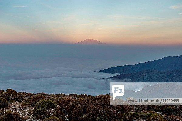 Meru peak of Kilimanjaro