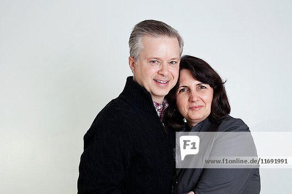 Mature couple smiling  portrait