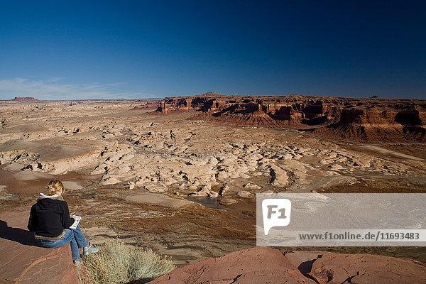 Künstler in der Wüste