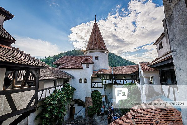 Bran Castle near Bran  Romania  commonly known as 'Dracula's Castle'  home of title character in Bram Stoker's 'Dracula' novel.
