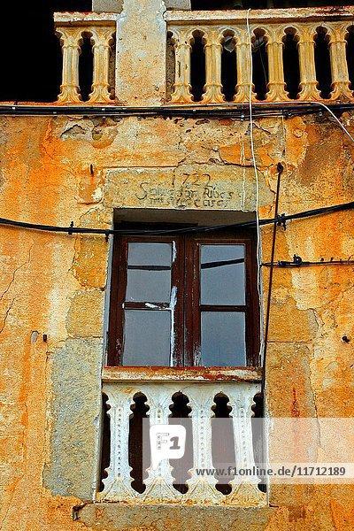 Balcony  Bordils  Girona  Catalonia  Spain