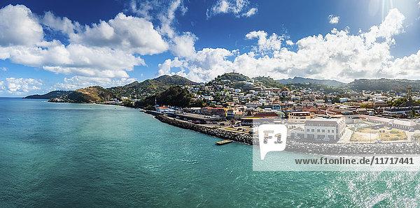 Antillen  Kleine Antillen  Grenada  Blick auf St. George's