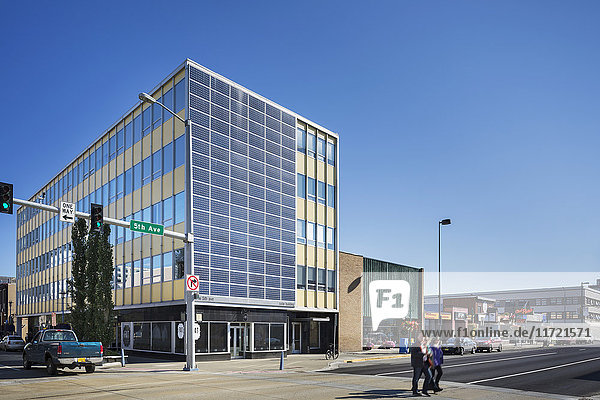 Anchorage's first solar powered office building  Southcentral Alaska  USA