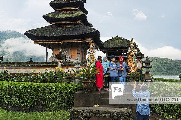 'Pura Ulun Danu Buyan in Danau Buyan Lake; Bali Island  Indonesia'