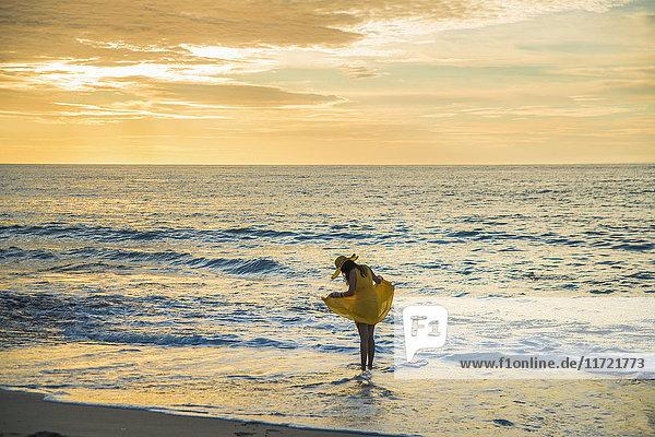 'Sunset on Dreamland beach; Bali Island  Indonesia'