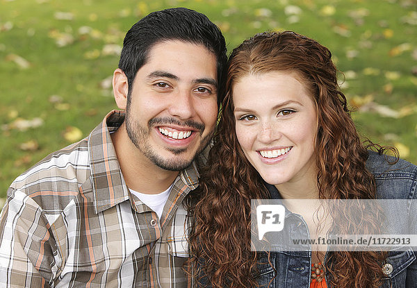 'Portrait of a young married couple; Oregon  United States of America'