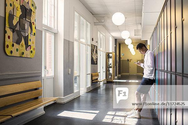 Student (14-15) in corridor Student (14-15) in corridor
