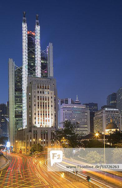 HSBC Building at dusk  Central  Hong Kong Island  Hong Kong