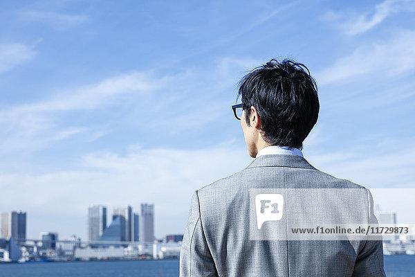 Japanese businessman downtown Tokyo  Japan