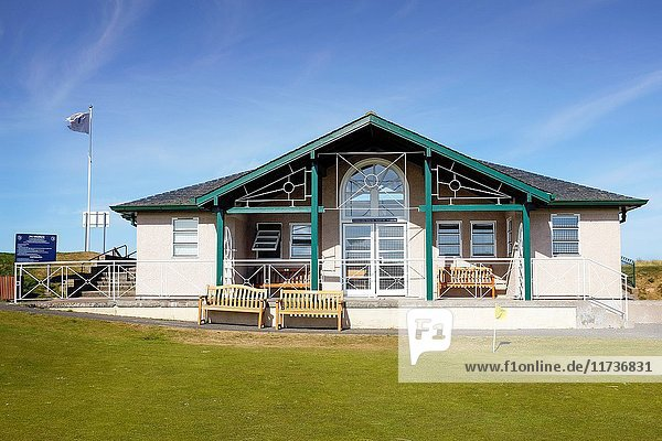 Clubhouse for the St Andrews Ladies Putting Club  The Himalayas Course  st Andrews  Fife  Scotland  UK.