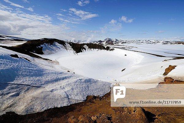 Iceland  Nordurland Eystra region  Krafla volcanic area  Viti crater