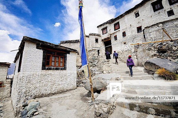 India  Jammu and Kashmir  Ladakh  Nubra valley  Buddhist monastery of Diskit
