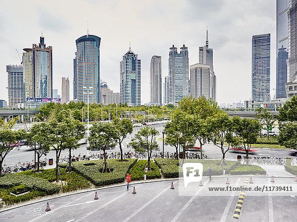 Finanzbezirk  Pudong  Shanghai  China
