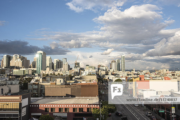 Cityscape of SoMA  San Francisco  California