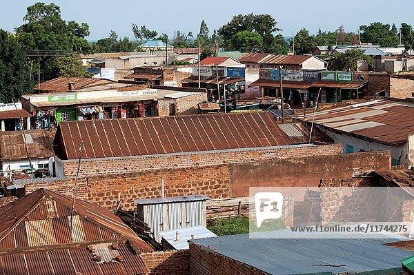 Busy border town of Bumala in Kenya  near the border with Uganda. (Photo by: Wayne Hutchinson/Farm Images/UIG)