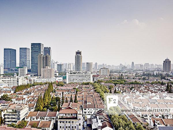 Stadtzentrum des alten Shanghai  Reihenhäuser  Shanghai  China