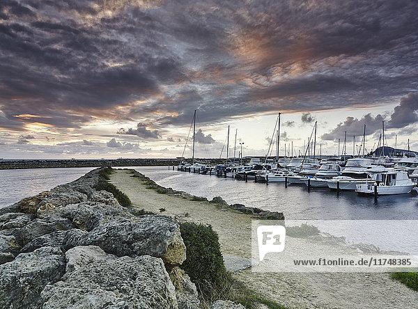 Yachts in marina  Fremantle  Western Australia