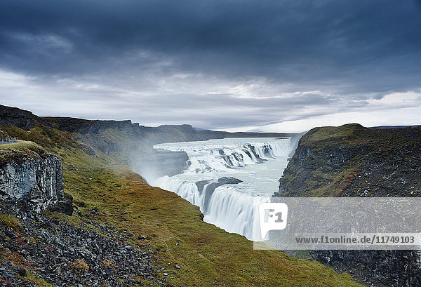 Gullfoss waterfall  Hvita river  south west Iceland