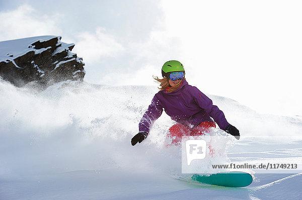 Snowboarden von Frauen