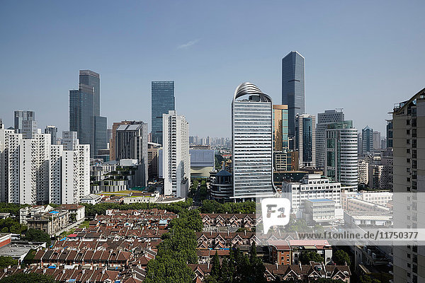 High angle view of Shanghai city  China