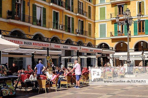 Pizzeria  Plaza Major  Palma  Mallorca  balearic islands  spain  europe.