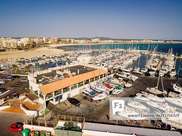 Puerto deportivo  Can Pastilla  playa de Palma  Mallorca  balearic islands  spain  europe.