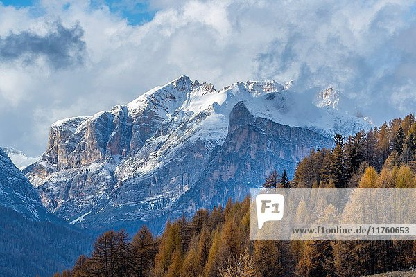 Mountains seen from Passo Tre Croci  Cortina D'Ampezzo  Province of Belluno  region of Veneto  Italy  Europe.