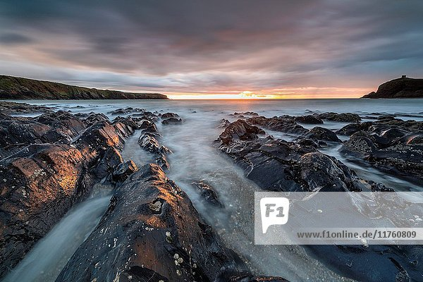 Abereiddy Bay  Pembrokeshire Coast National Park  Abereiddy  Wales  United Kingdom  Europe.