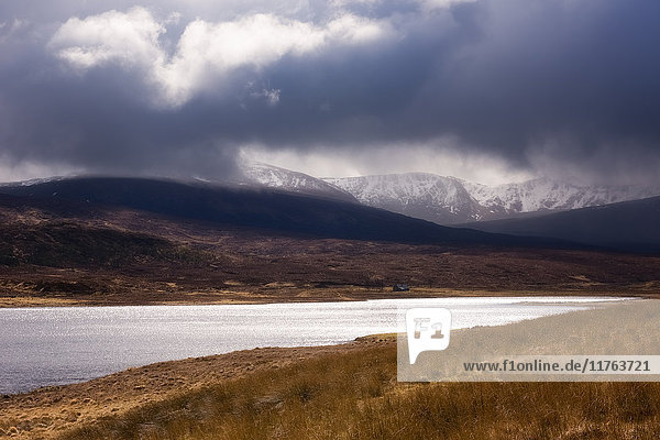 Stormy Scottish Highlands  Scotland. United Kingdom  Europe