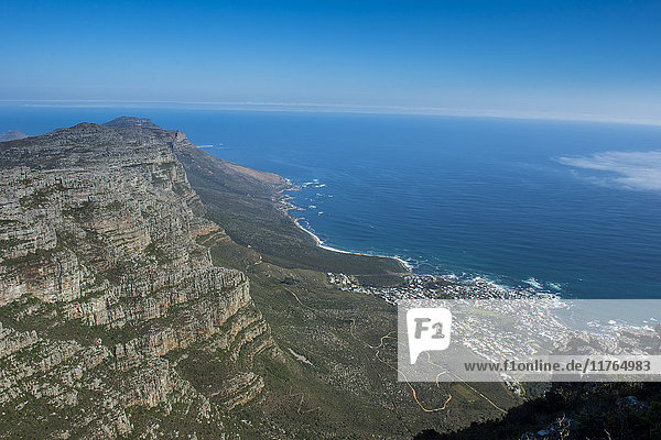 View over Camps Bay  Cape Town  Table Mountain  South Africa  Africa