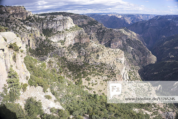Copper Canyon  larger and deeper than the Grand Canyon  Mexico  North America