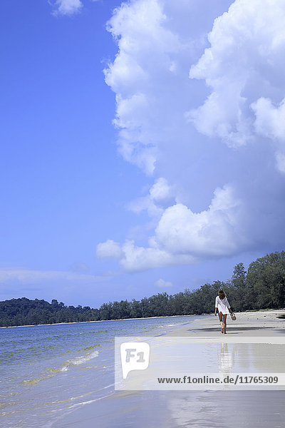 Beach in Ream National Park  Sihanoukville  Cambodia  Indochina  Southeast Asia  Asia