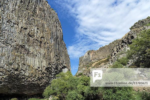 Symphony of Stones  Basalt columns formation along Garni gorge  Kotayk Province  Armenia  Caucasus  Asia