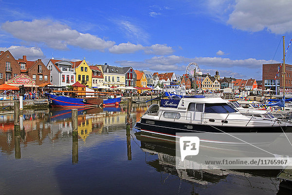 Harbour of Husum  Schleswig-Holstein  Germany  Europe