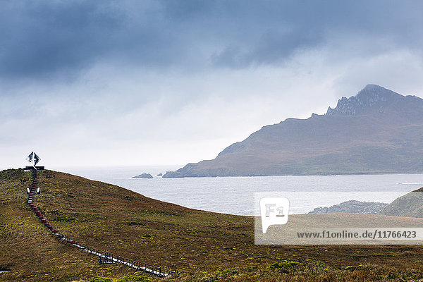 Cape Horn at the far southern end of South America  in the islands of Cape Horn National Park  Patagonia  Chile  South America