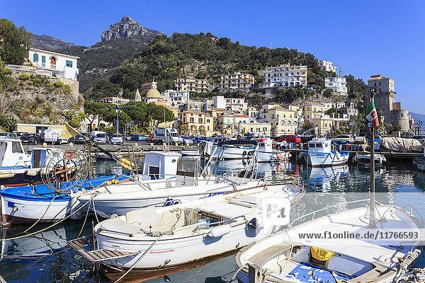 Cetara  picturesque and unpretentious fishing village  Amalfi Coast  UNESCO World Heritage Site  Campania  Italy  Europe