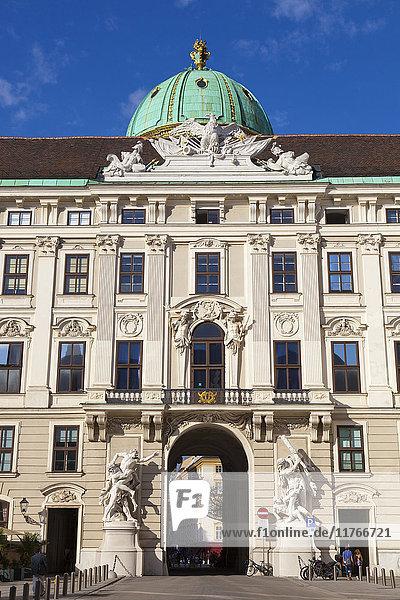 Facade of Michaelertor Gate  Hofburg Palace  UNESCO World Heritage Site  Vienna  Austria  Europe