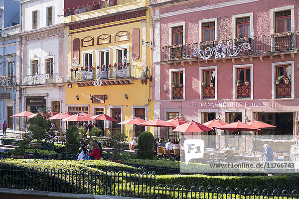 View of town centre  Guanajuato  Mexico  North America