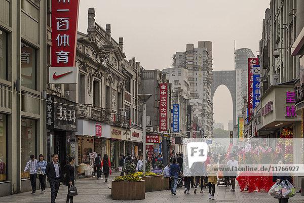 Five Horses Shopping District  Wenzhou  Zhejiang province  China  Asia