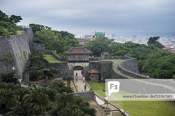 Walls of Shuri Castle  UNESCO World Heritage Site  Naha  Okinawa  Japan  Asia
