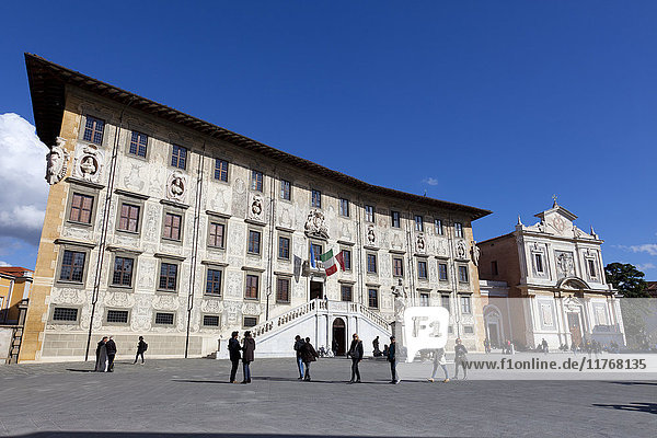 The Knight's Palace and The Church of Saint Stephen of The Knights  Piazza dei Cavalieri  Pisa  Tuscany  Italy  Europe