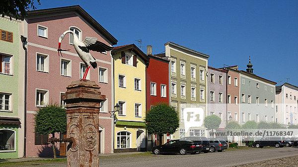 Old town of Tittmoning  Upper Bavaria  Germany  Europe