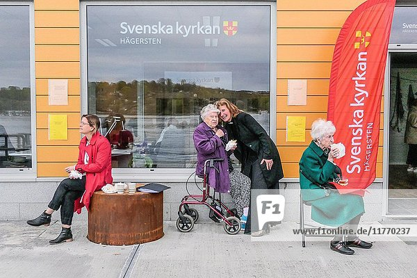 STOCKHOLM  SWEDEN Inauguration ceremony of new Swedish church in Liljeholmen.