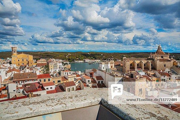 View of the city from Oliver Palace. Maó City. Maó Municipality. Menorca Island. Balearic Islands. Spain