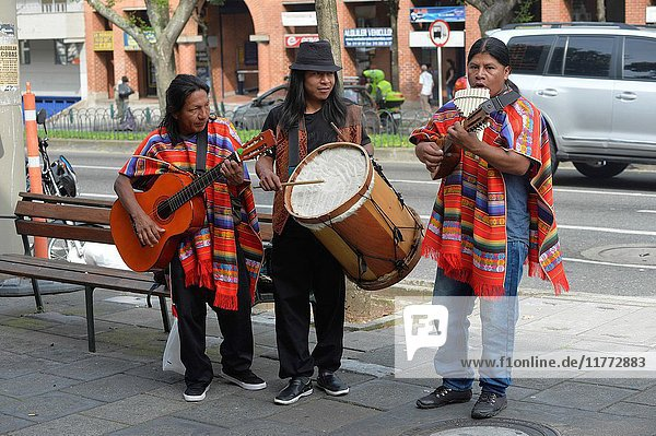 Group of musicians in Medellin Colombia.