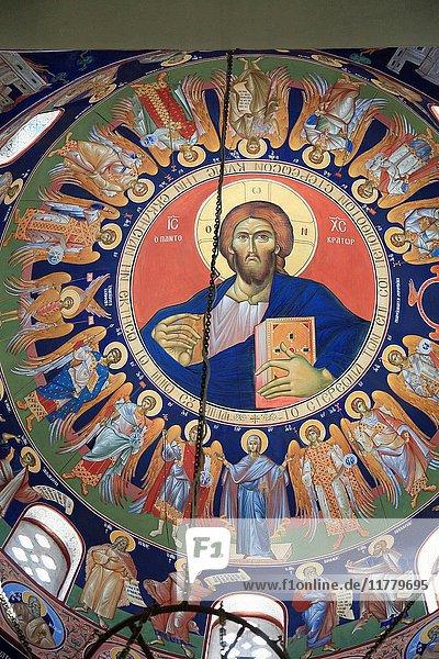 Greece  Cyclades  Naxos  Hora  Agios Nikodimos Church  interior .