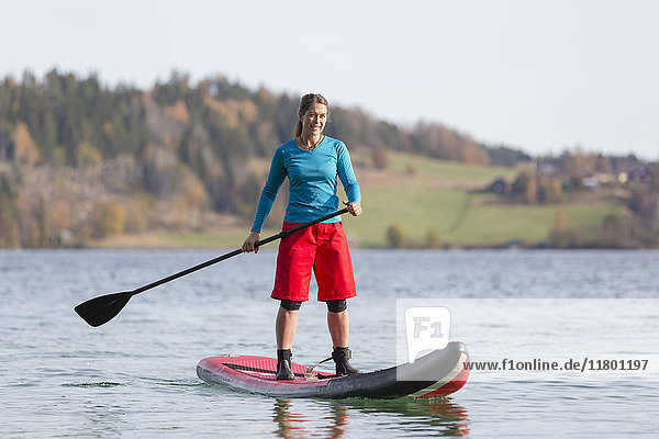 Woman on paddleboard