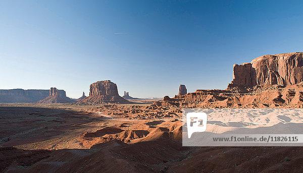 Landschaft des Denkmals Valley Navajo Tribal Park  Utah  USA