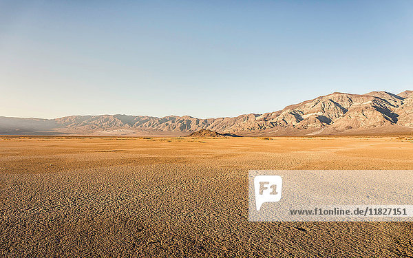 Desert and mountains in Death Valley National Park  California  USA