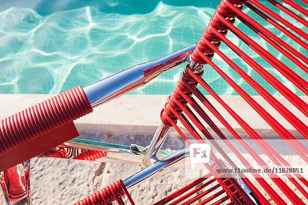 Stuhl am Pool  Agristurismo Quarterella  Modica  Ragusa  Sizilien